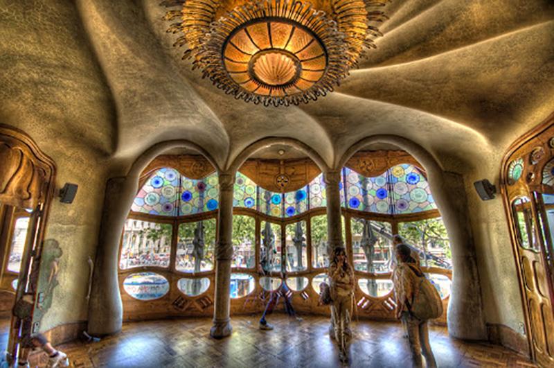 Visitantes da Casa Batlló em Barcelona