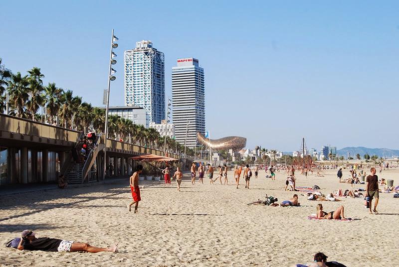 Estrutura da Praia Barceloneta