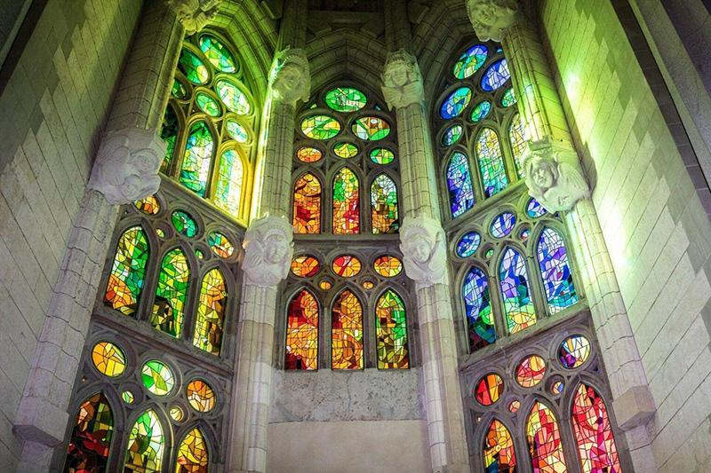 Vitrais da Sagrada Família de Barcelona