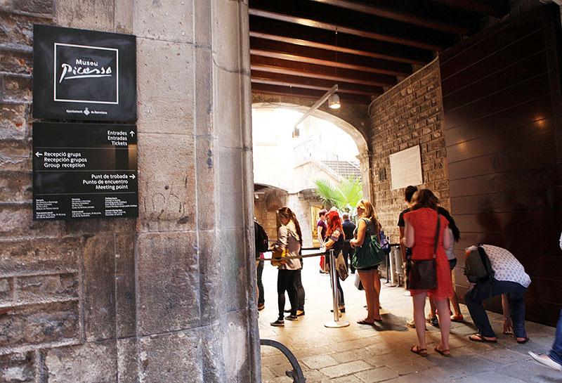Entrada do Museu Picasso de Barcelona