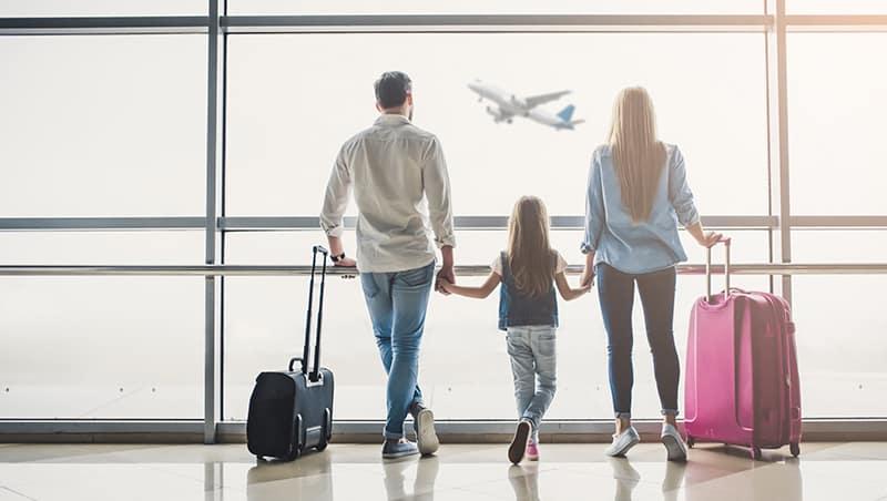 Família no eroporto