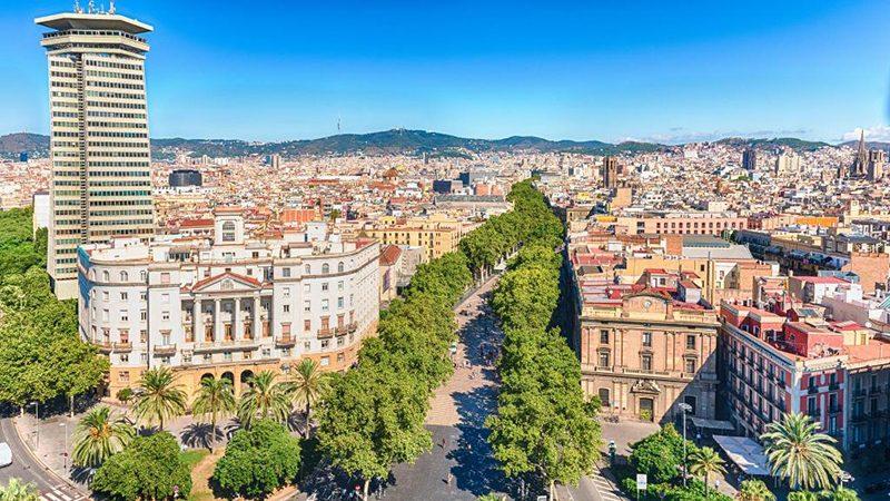 Barcelona - vista de Las Ramblas