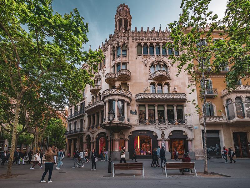 Região de Passeig de Gràcia em Barcelona