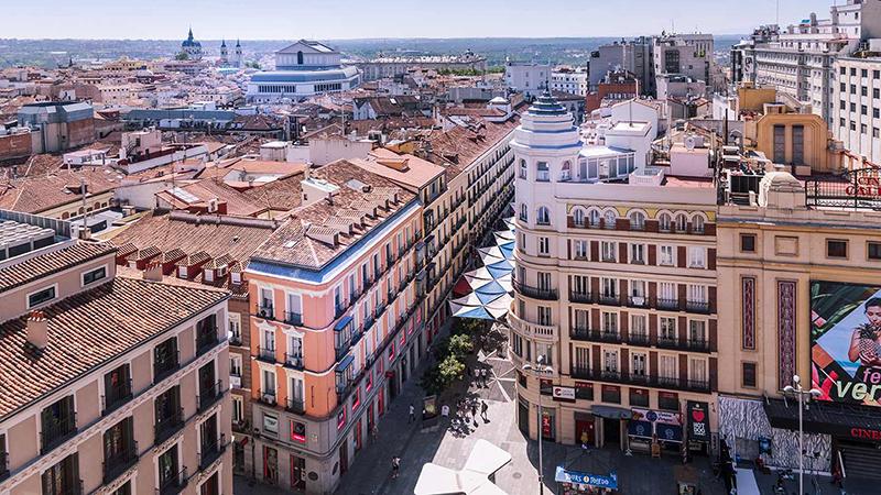 Vista da cidade de Madri na Espanha