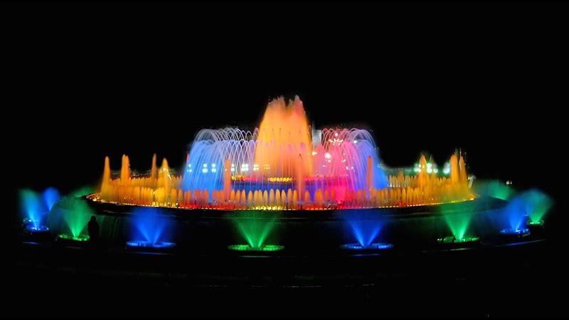 Luzes do Show das Fontes de Montjuic em Barcelona