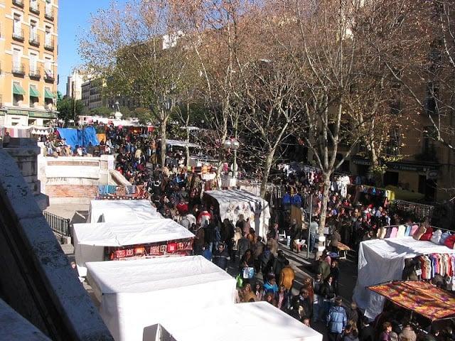 Mercado El Rastro em Madri