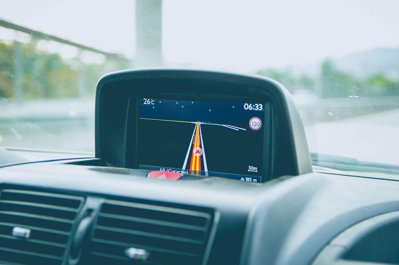 GPS no carro na Espanha