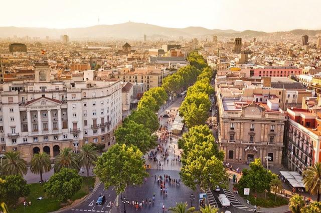 Barcelona em outubro