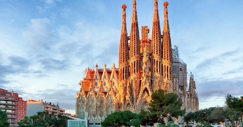Vista da Sagrada Família em Barcelona