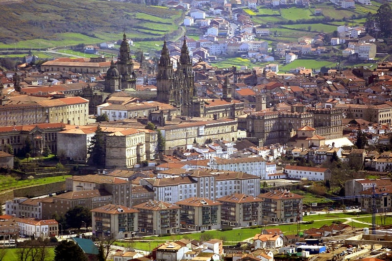 Vista de Santiago da Compostela