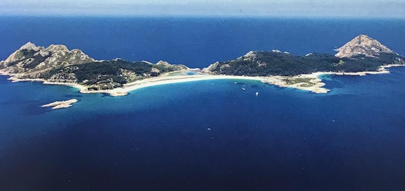 Vista panorâmica das Ilhas Cíes na Espanha