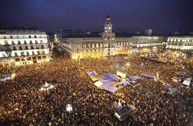 Ano Novo em Puerta del Sol - Madri