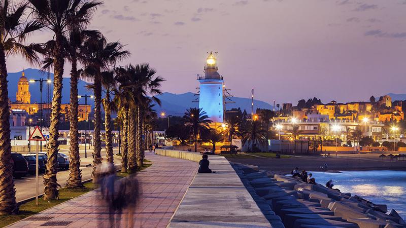 Entardecer em Málaga