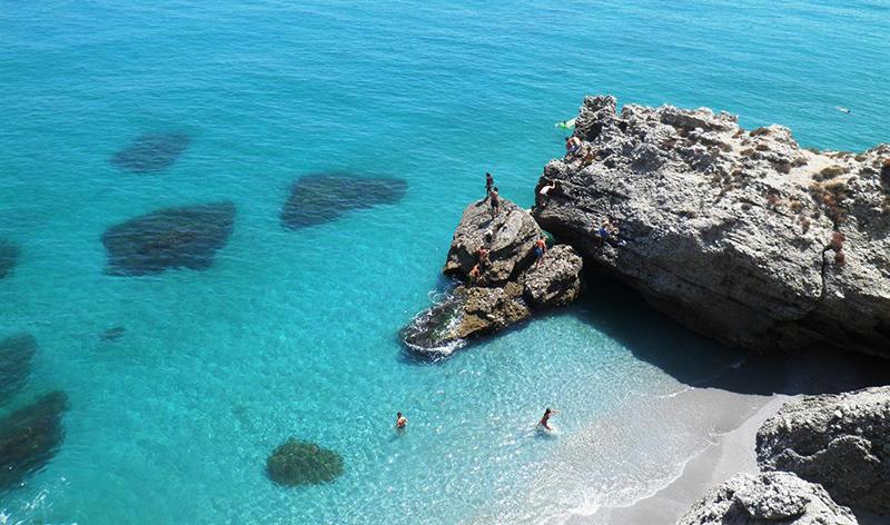 Nerja Beach em Málaga