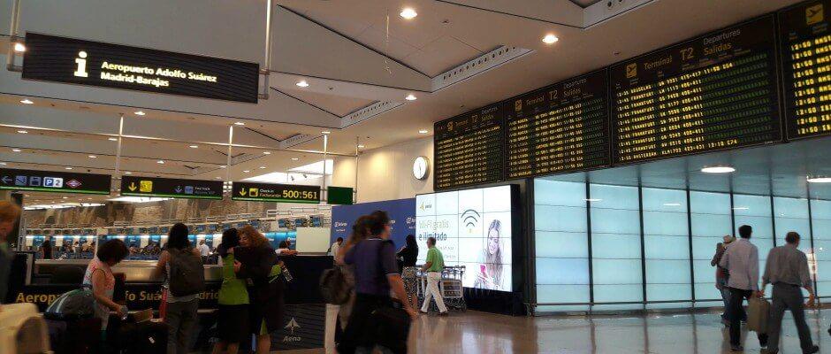 Aeroporto de Madri na Espanha