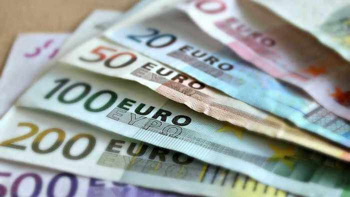 Diferente cédulas do Euro