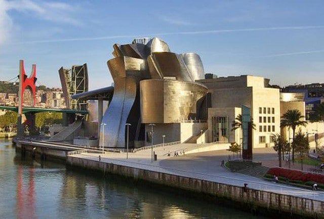 Vista do museu em Bilbao