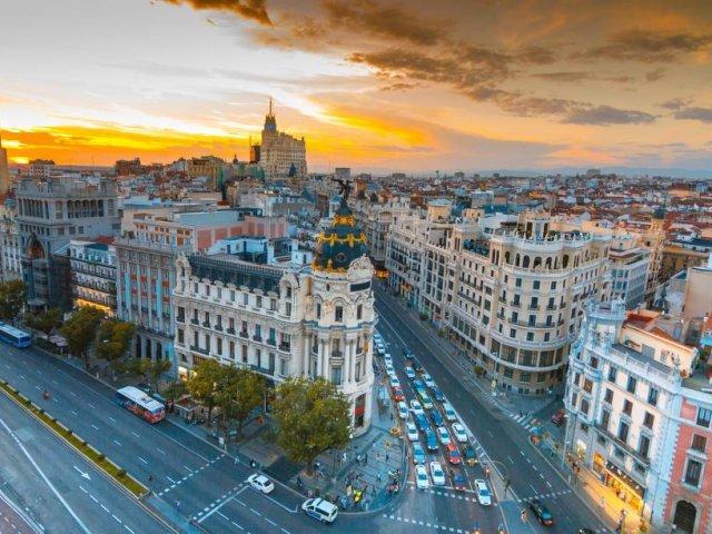 Vista aérea de Madri