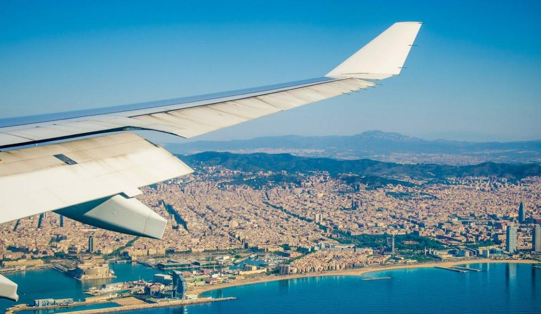 Avião em Barcelona
