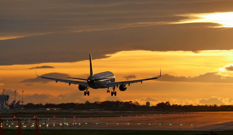 Decolagem de avião na Espanha