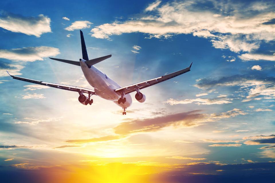 Avião com destino para a Espanha