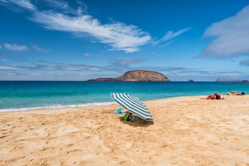 Praia em Lanzarote