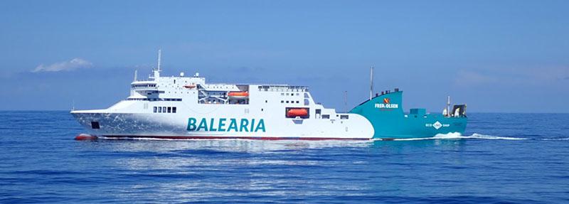 Ferry da empresa Balearia na Espanha