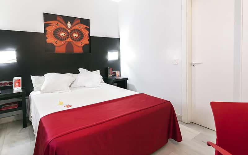 Suíte do Hotel Del Pintor em Málaga