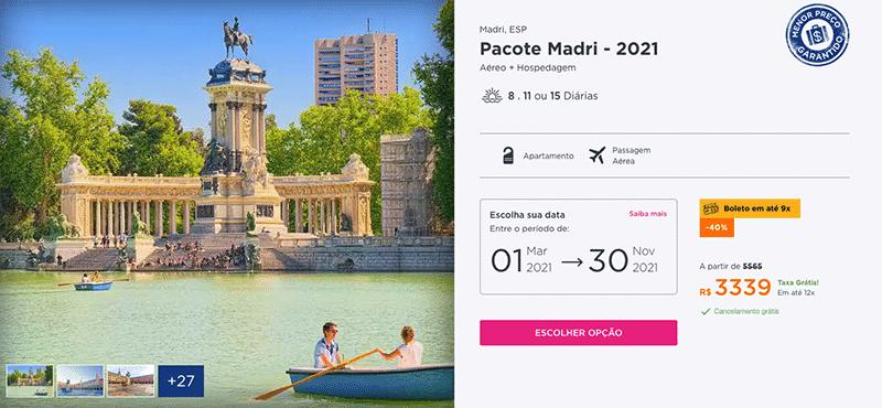Pacote Hurb para Madri por R$ 3.339