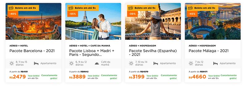Pacotes Hurb para a Espanha