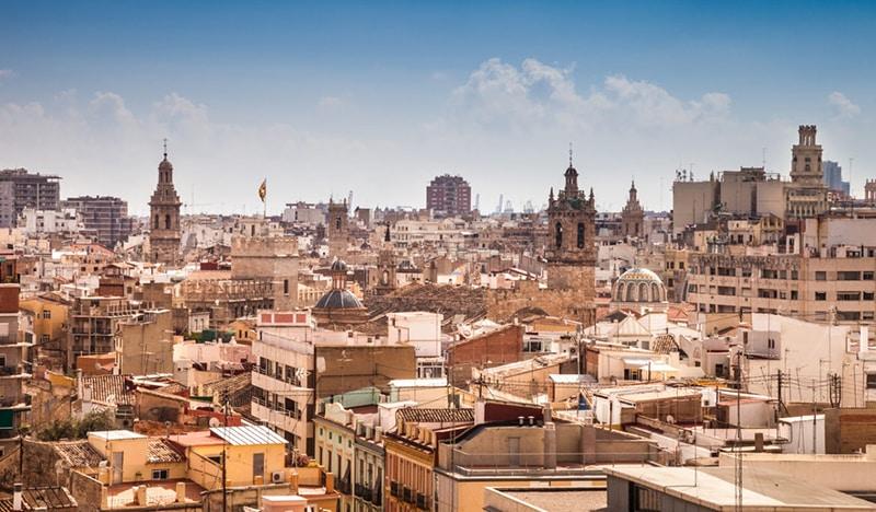 Vista da cidade de Valência na Espanha