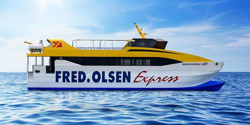 Ferry da empresa Fred Olsen Express na Espanha