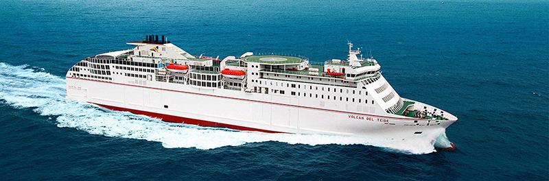 Ferry boat nas Ilhas Canárias