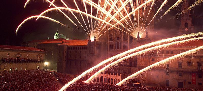 Show de fogos no Festival de Santiago Apóstol
