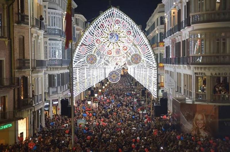 Luzes de Natal em Málaga