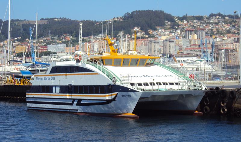 Embarcação da Empresa Mar de Ons em Vigo