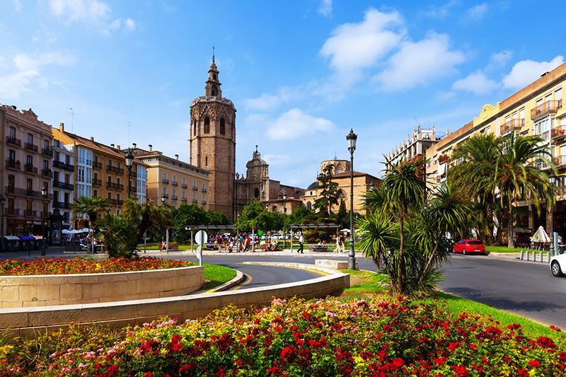 Plaza de la Reina em Valência